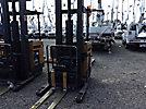2003 Caterpillar NRR40P, 4,000# Stand-Up Order Picker Forklift, s/n 02NL07127, battery powered