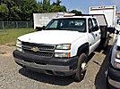 2005 Chevrolet K3500HD 4x4 Crew-Cab Flatbed Truck