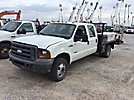 2005 Ford F350 4x4 Crew-Cab Flatbed Truck