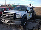 2005 Ford F550 4x4 Crew-Cab Flatbed Truck