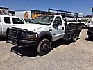 2005 Ford F550 4x4 Flatbed Truck