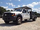 2006 Ford F450 4x4 Crew-Cab Flatbed Truck