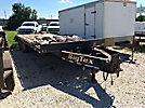 2007 Big Tex 20PH T/A Tagalong Flatbed Trailer, 20' over wheel deck w/ beaver tail & ramps