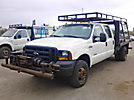 2007 Ford F350 4x4 Crew-Cab Flatbed Truck