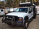 2007 Ford F550 4x4 Crew-Cab Flatbed Truck