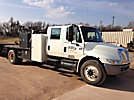 2007 International 4300 Crew-Cab Flatbed Truck