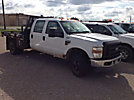 2008 Ford F350 4x4 Crew-Cab Flatbed Truck