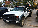 2008 Ford F450 4x4 Crew-Cab Flatbed Truck