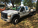 2008 Ford F450 4x4 Extended-Cab Flatbed Truck