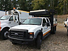 2008 Ford F550 4x4 Crew-Cab Flatbed Truck