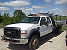 2008 Ford F550 4x4 Crew-Cab Flatbed Truck