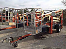 2008 JLG T350 Articulating & Telescopic Manlift, trailer mtd