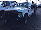2009 Ford F350 4x4 Crew-Cab Flatbed Truck
