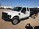 2009 Ford F350 4x4 Extended-Cab Flatbed Truck