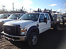 2009 Ford F550 4x4 Crew-Cab Flatbed Truck