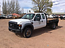 2010 Ford F550 4x4 Extended-Cab Flatbed Truck