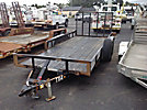 2012 Buck Dandy 3-Ton T/A Tagalong Trailer, with 16' level deck between wheels & ramps