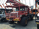 Aerial Lift of CT AL50-5-1L-1H, Over-Center Bucket Truck, rear mounted on, 2002 International 7300 4x4 Flatbed Truck