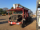 Aerial Lift of CT AL60/50-5-1L-4H, Over-Center Bucket Truck, mounted behind cab on, 1999 International 4700 Chipper Dump Truck