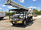 Aerial Lift of CT AL62/52-26U-22L-4HRM, Over-Center Bucket Truck, rear mounted on, 2000 International 4800 4x4 Flatbed Truck