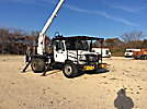 Aerial Lift of CT AL62/52-26U-22L-4HRM, Over-Center Bucket Truck, rear mounted on, 2004 International 4300 Flatbed Truck