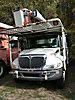 Aerial Lift of CT AL65-53-5-IL-4H, Bucket Truck, mounted behind cab on, 2005 International 4300 Chipper Dump Truck