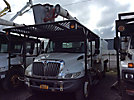 Aerial Lift of CT AL65-53-5-IL-4H, Over-Center Bucket Truck mounted behind cab on 2006 International 4300 Chipper Dump Truck