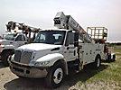 AeroLift 3TP-50, Telescopic Non-Insulated Platform Lift, mounted behind cab on, 2002 International 4300 Utility Truck