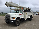 Altec, Over-Center Material Handling Bucket Truck, rear mounted on, 1998 Ford F800 Utility Truck