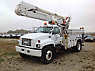 Altec A0-442, Material Handling Bucket Truck, center mounted on, 1998 GMC C7500 Utility Truck