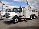 Altec A50-OC, Material Handling Bucket Truck, rear mounted on, 2004 International 7400 T/A Utility Truck