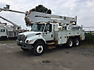 Altec A50-OC, Material Handling Bucket Truck rear mounted on 2003 International 7400 T/A Utility Truck