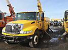 Altec A50E-OC, Material Handling Bucket Truck rear mounted on 2005 International 4400 Extended-Cab Utility Truck