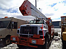 Altec A55-OC, Material Handling Bucket Truck, rear mounted on, 2002 GMC C8500 4x4 Utility Truck