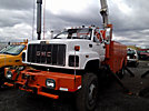 Altec A55-OC, Material Handling Bucket Truck, rear mounted on, 2002 GMC C8500 Utility Truck