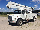 Altec A55E-OC, Material Handling Bucket Truck rear mounted on 2002 Freightliner FL80 Utility Truck