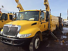 Altec A55E-OC, Material Handling Bucket Truck rear mounted on 2004 International 4400 Extended-Cab Utility Truck