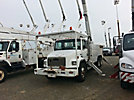 Altec A72-T, Articulating & Telescopic Material Handling Bucket Truck, rear mounted on, 2000 Freightliner FL80 T/A Utility Truck