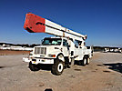 Altec A77T, Articulating & Telescopic Material Handling Bucket Truck, rear mounted on, 1998 International 4900 T/A Flatbed/Utility Truck