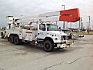Altec A77T, Articulating & Telescopic Material Handling Bucket Truck, rear mounted on, 2000 Freightliner FL80 T/A Utility Truck