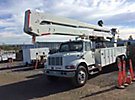 Altec A77T, Articulating & Telescopic Material Handling Bucket Truck, rear mounted on, 2001 International 4900 T/A Utility Truck