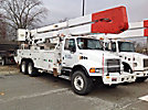 Altec A77T, Articulating & Telescopic Material Handling Bucket Truck, rear mounted on, 2003 Sterling M8500 T/A Utility Truck