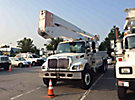 Altec A77T, Articulating & Telescopic Material Handling Bucket Truck, rear mounted on, 2005 International 7400 6x4 T/A Utility Truck