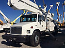 Altec A77T, Articulating & Telescopic Material Handling Bucket Truck rear mounted on 2001 Freightliner FL70 T/A Extended-Cab Utility Truck