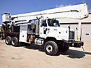 Altec A77T, Articulating & Telescopic Material Handling Bucket Truck rear mounted on 2001 International 5600i 6x6 Flatbed/Utility Truck