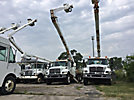 Altec A77T, Articulating & Telescopic Material Handling Bucket Truck rear mounted on 2003 International 7400 T/A Flatbed/Utility Truck