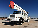 Altec A77T-E93, Articulating & Telescopic Material Handling Elevator Bucket Truck, rear mounted on, 2004 Freightliner FL112 6x6 Flatbed/Utility Truck