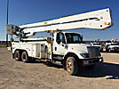 Altec A77T-E93, Articulating & Telescopic Material Handling Elevator Bucket Truck rear mounted on 2003 International 7400 T/A Utility Truck