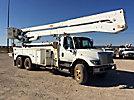 Altec A77T-E93, Telescopic Material Handling Elevator Bucket Truck rear mounted on 2003 International 7400 T/A Utility Truck