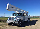 Altec A77T-E93-MH, Articulating & Telescopic Material Handling Elevator Bucket Truck, mounted behind cab on, 2007 International 7400 T/A Utility Truck, No manuals